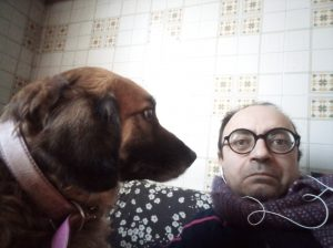 Paolo Milanesi con cane ipnotico
