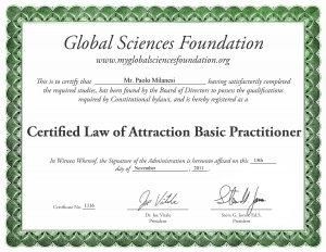 Legge di attrazione basic pratictioner Paolo Milanesi