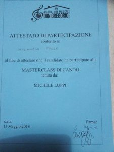 Paolo Milanesi Master Class con Michele Luppi
